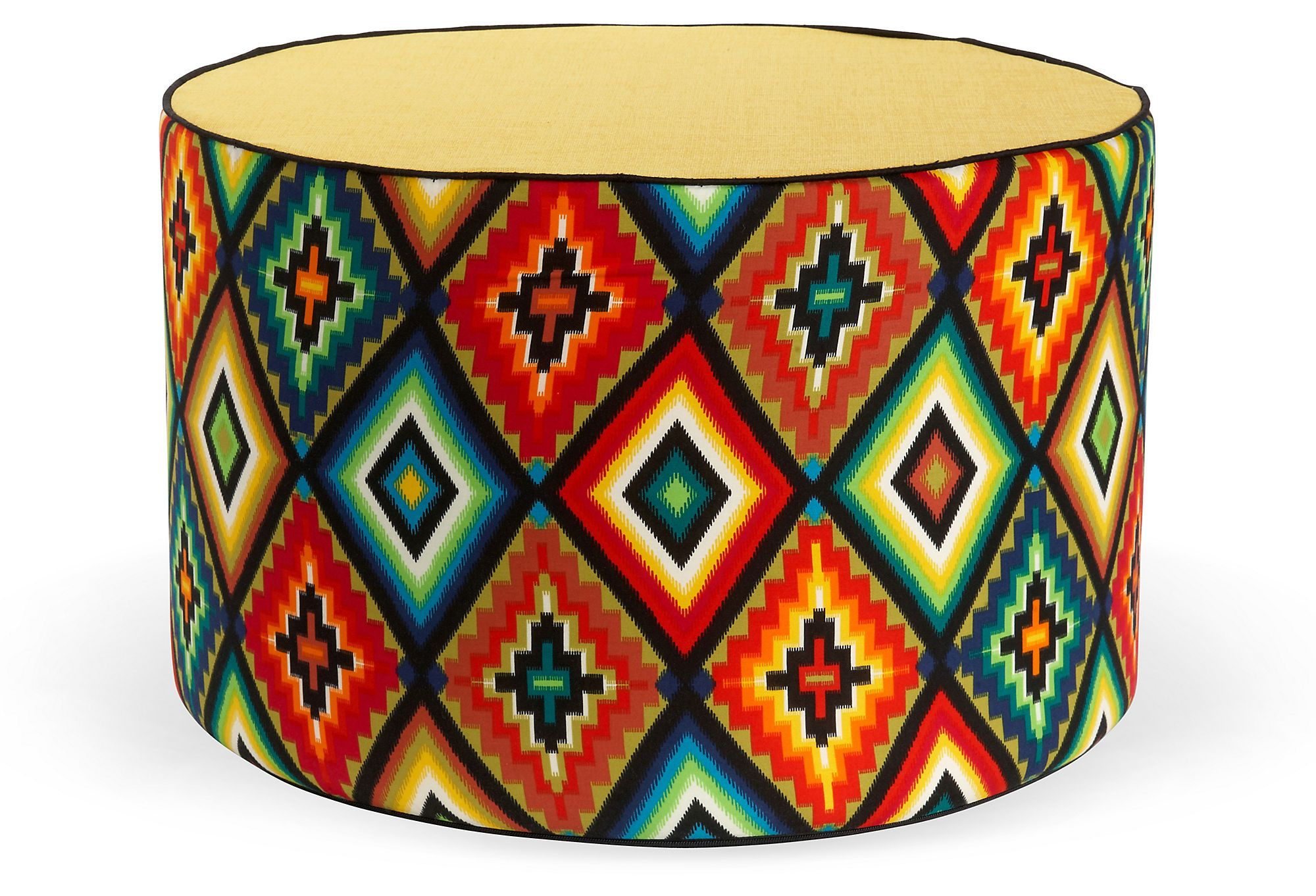 Aztec Round Pouf, Multi   Aztec, Products and Kings lane