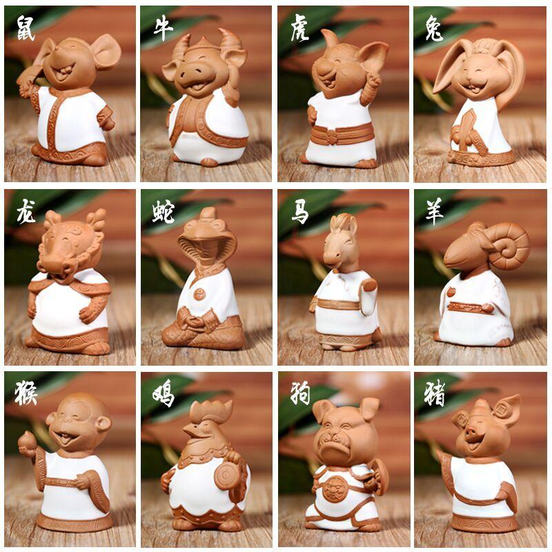 Creative cute Tchotchkes ceramic 12 zodiac animals born children sent his wife girlfriend birthday gifts