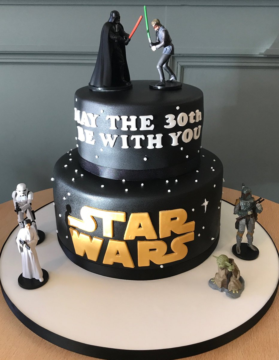 The Danes Bakery On Twitter In 2020 Star Wars Birthday Cake Star Wars Cake Toppers Star Wars Cake