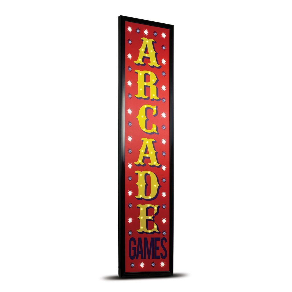 American Art Decor Arcade Games Framed Marquee Man Cave Game Room LED Signs