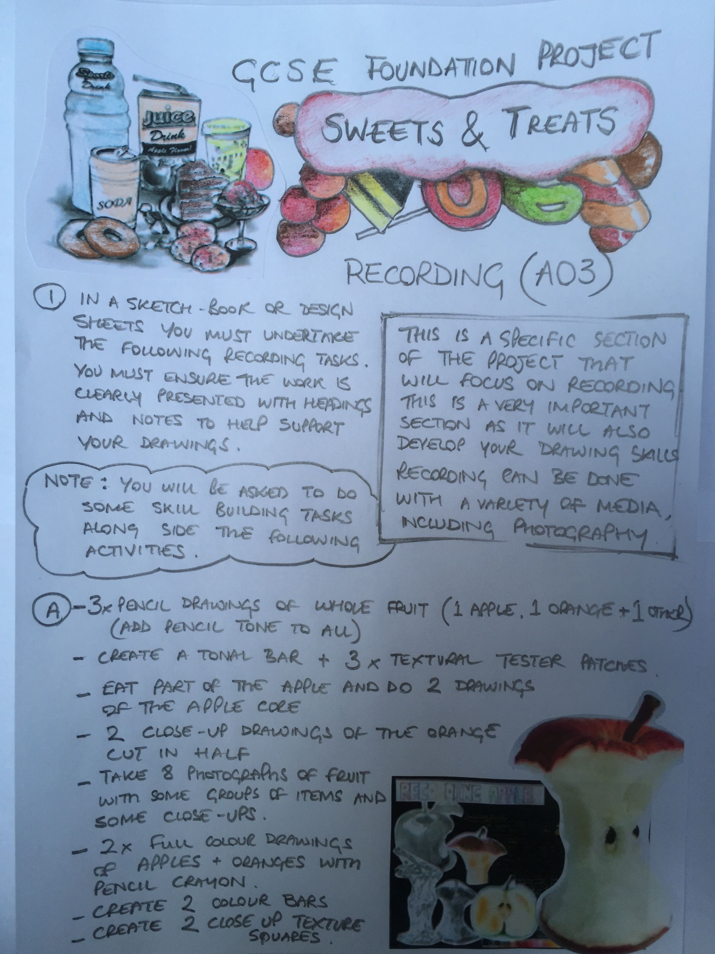Sweets And Treats Project Recording Page 1