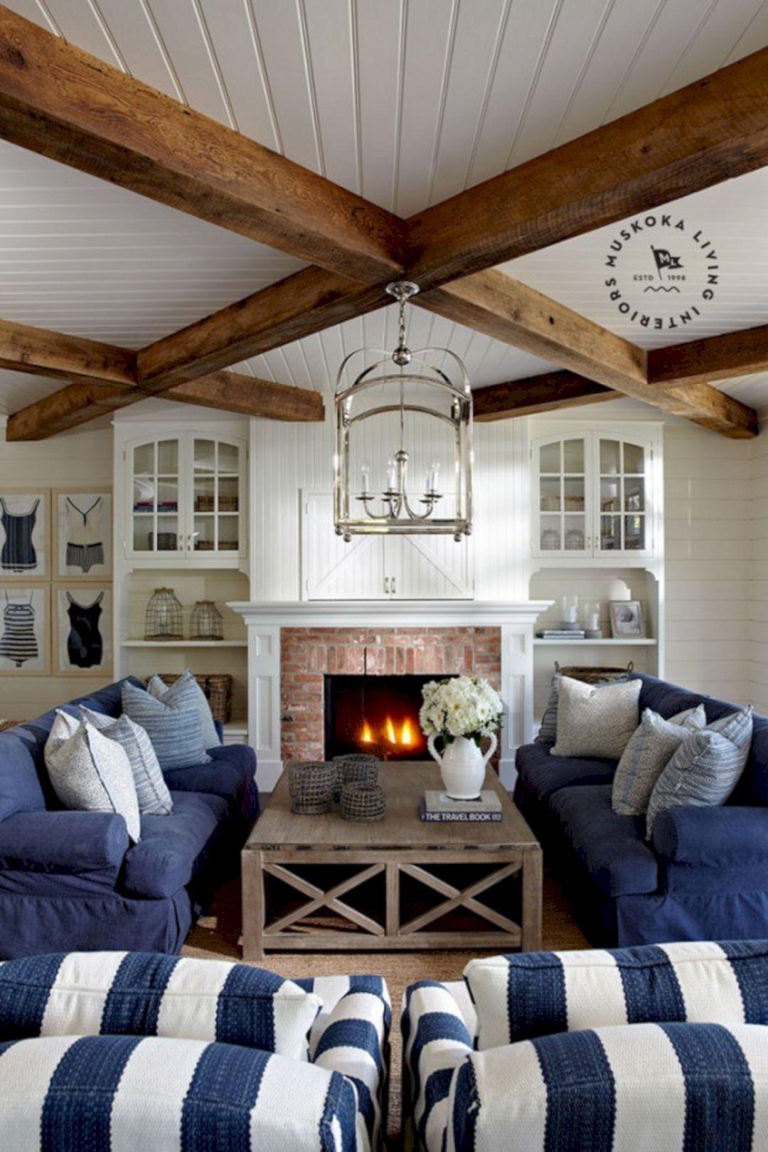 25+ Unique Rustic Coastal Nautical Living Room Ideas For Amazing Room