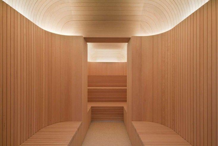 high style sauna at the akasha spa hotel cafe royal. Black Bedroom Furniture Sets. Home Design Ideas