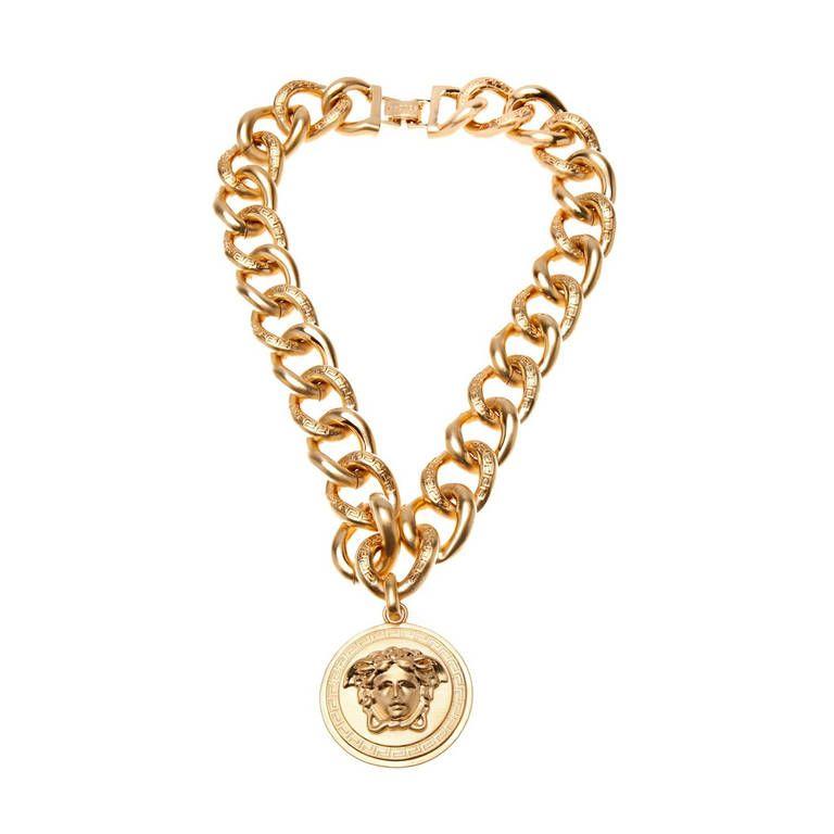 eb2e197d19 VERSACE 24K Gold plated chain necklace for men   jewelique Queen ...