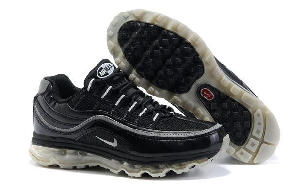 98e08623d49c 397252 009 Nike Air Max 24-7 Black Metallic Silver White AMFM0558 ...