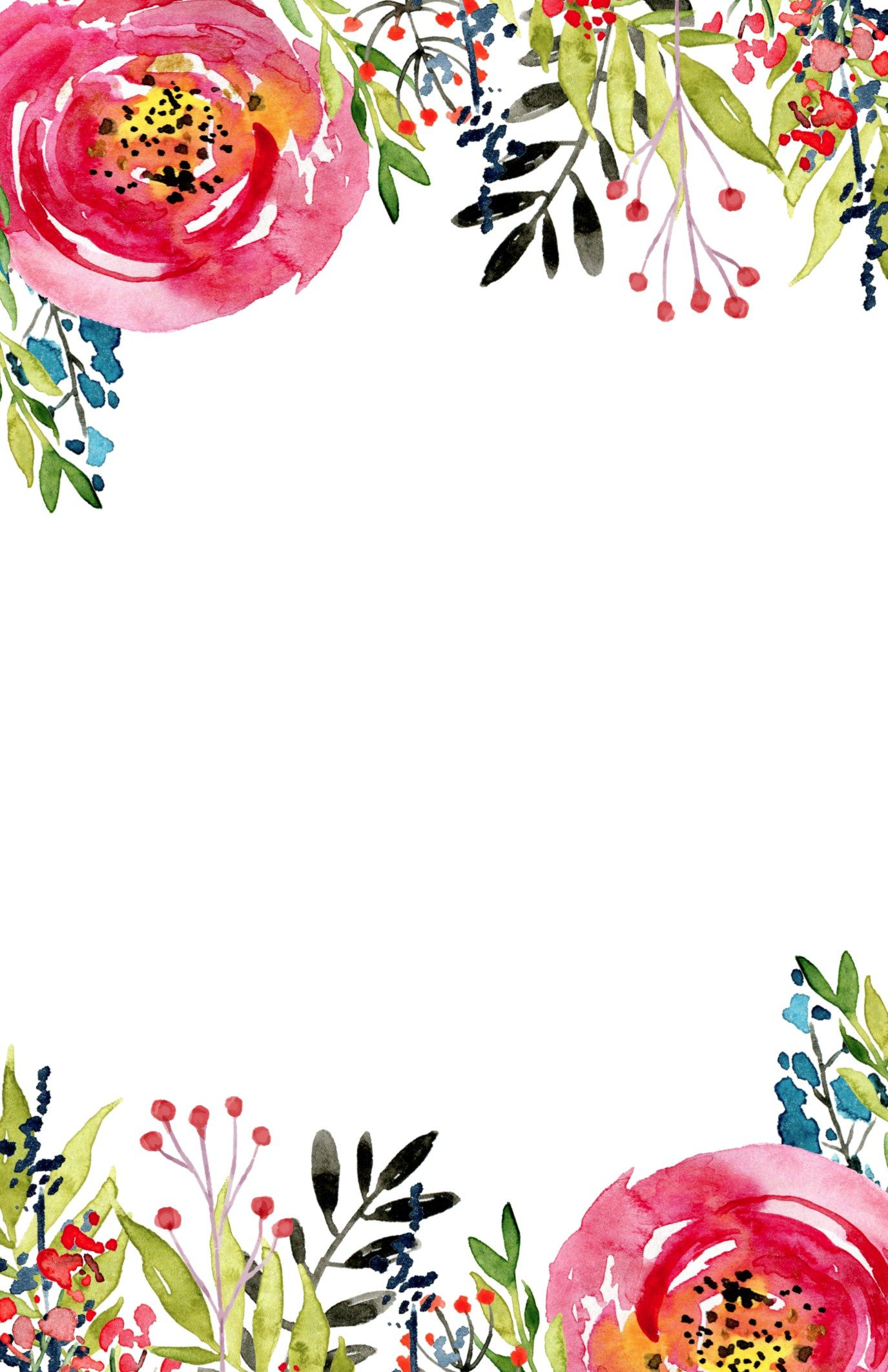 Floral Invitation Template {free printable | Wallpapers | Pinterest ...