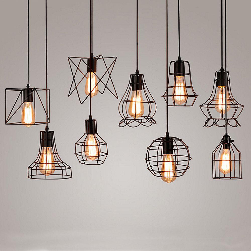 Ceiling Lights & Fans Lights & Lighting Amercian Loft Style Vintage Pendant Light Fixtures Edison Industrial Lighting For Home Indoor Hanging Retro Iron Droplight