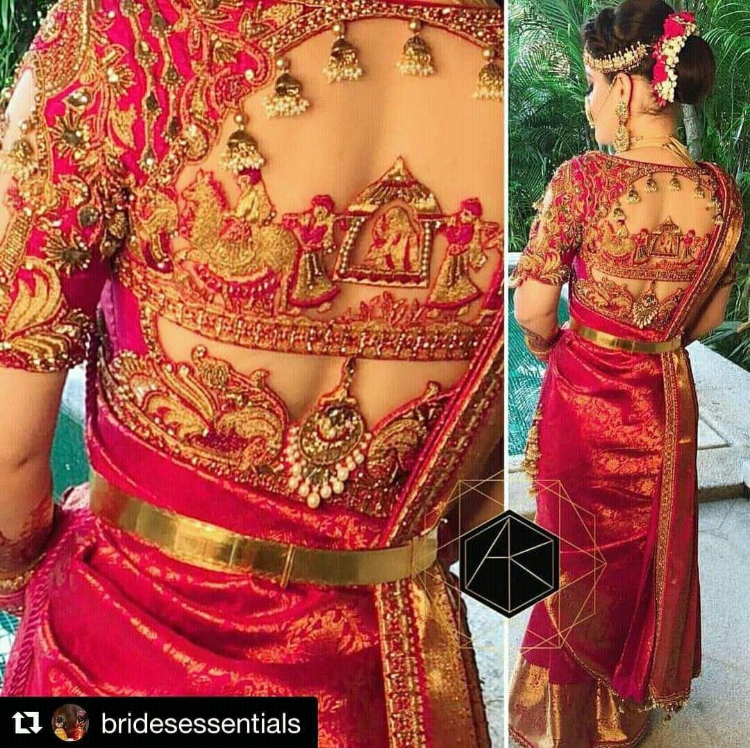 2576a9a66b1539 Wow beautiful bridal design blouse