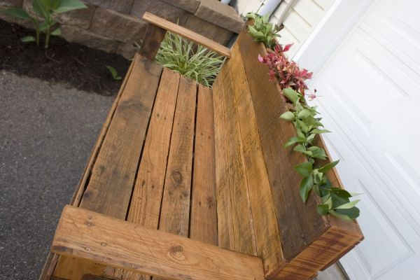 This Hand-Crafted Wooden Bench is built from reclaimed ...