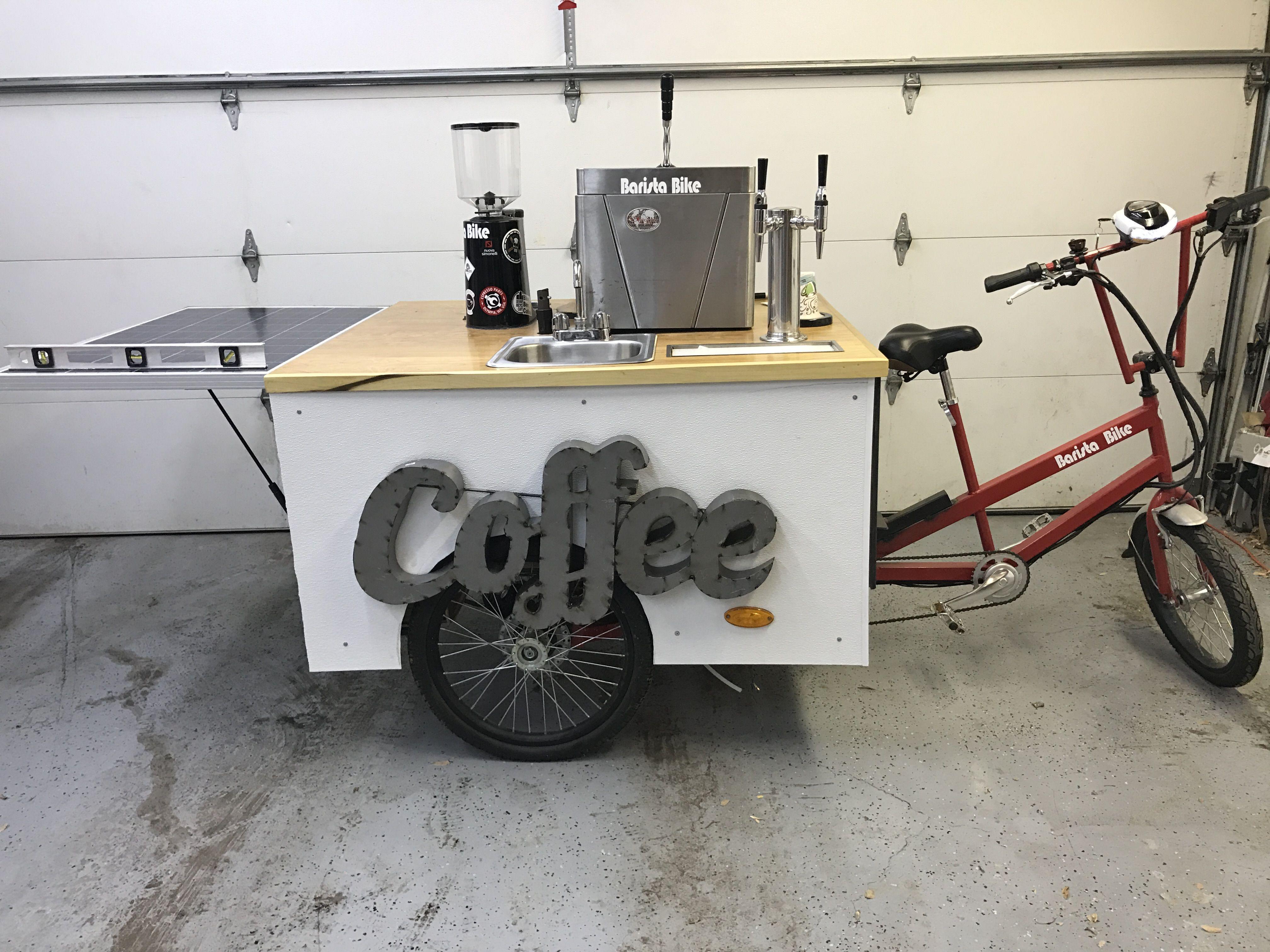 BARISTA BIKE DENVER solar powered nitro cold brew, propane