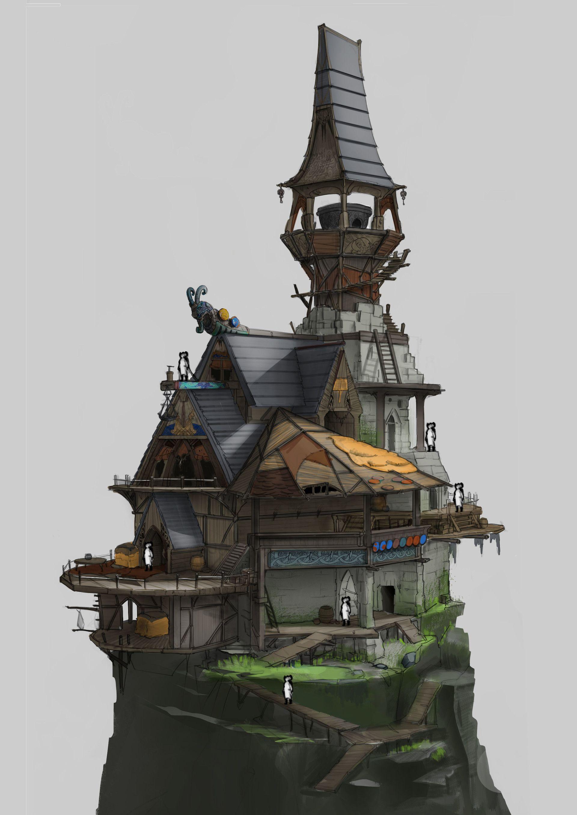 Artstation vikings architecture yure mk island ideas in