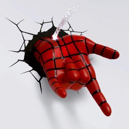 3d Wall Art Nightlight Spiderman Hand Spiderman Room Spiderman Hand Spiderman Bedroom