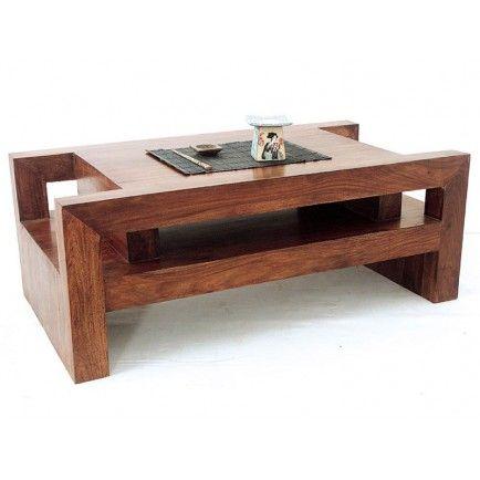 Table Basse Zen Palissandre meuble en bois exotique