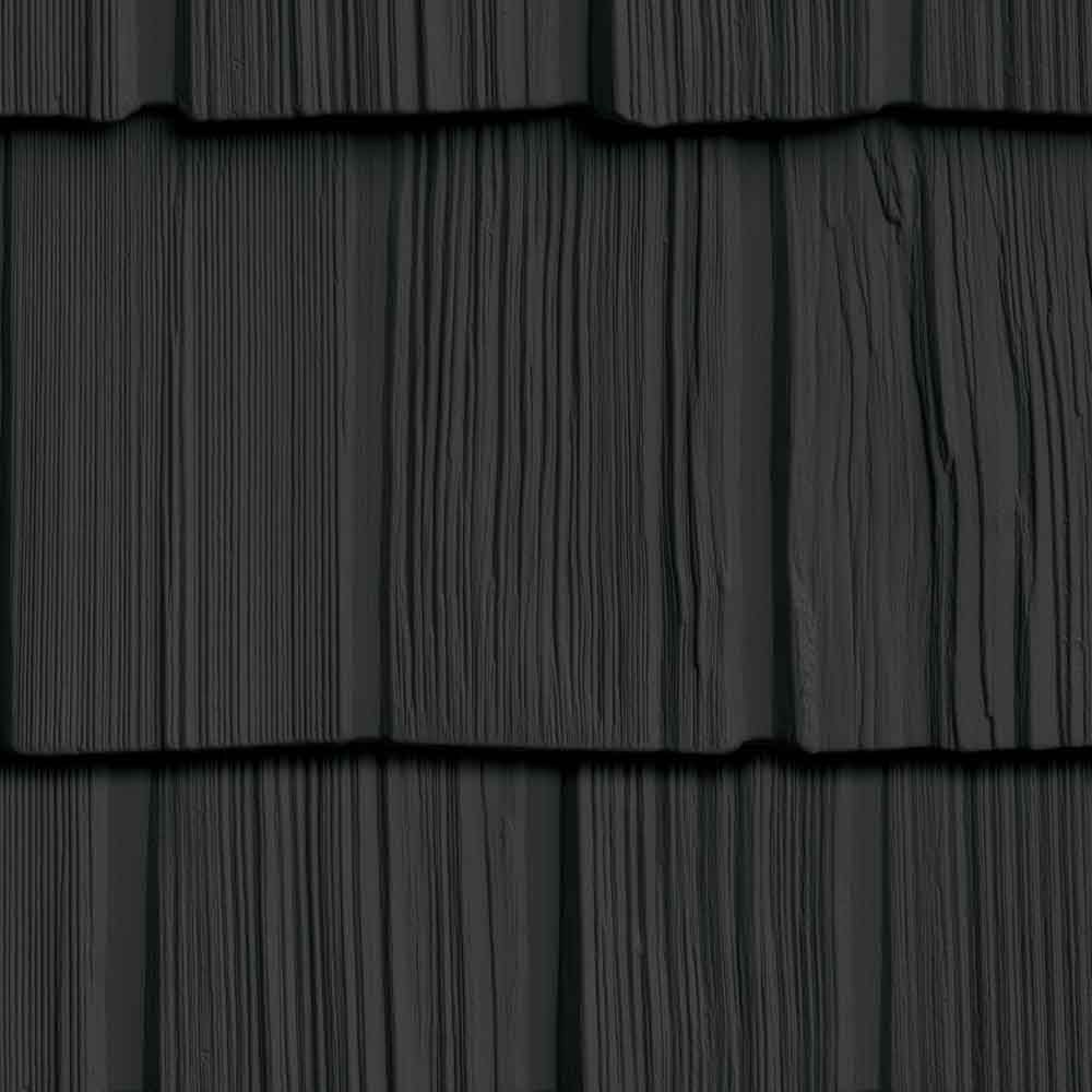 The Foundry 7in Vinyl Staggered Shakes 1 2 Square 692 Deep Granite Vinyl Shake Siding Shakes Shake Siding