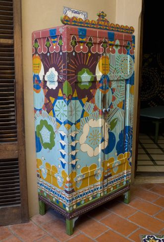Funky Painted Armoire