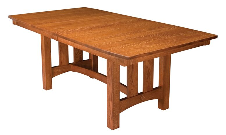 Country Shaker Trestle Dining Table Tables Shop By Type Amish Furniture Factory
