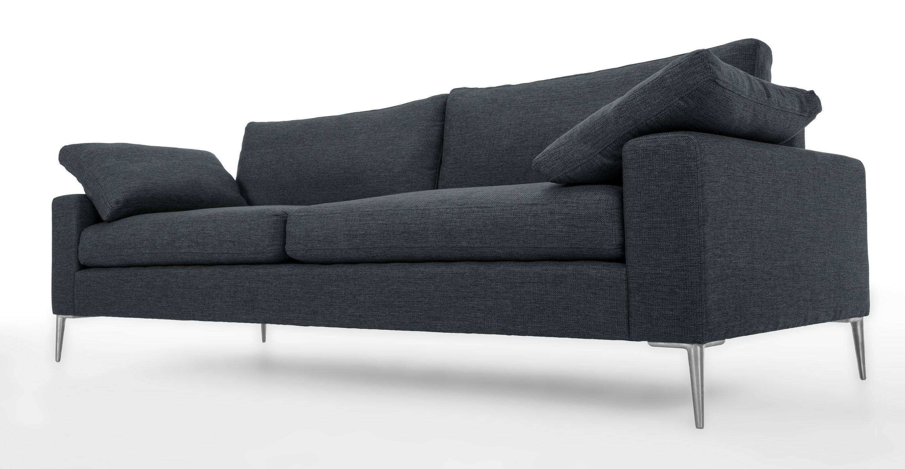Nova Bard Gray Sofa Metal Legs