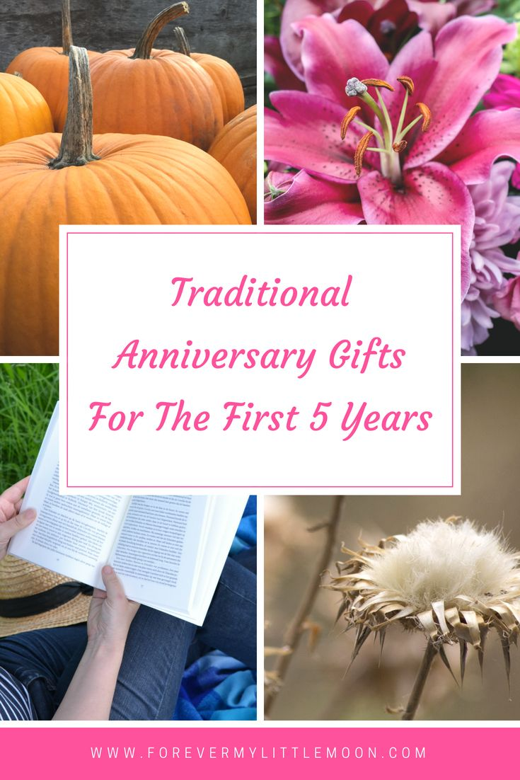 Traditional Anniversary Gifts for the first 5 years of