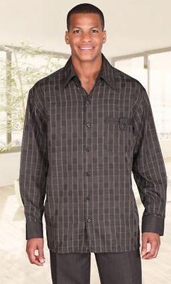Men/'s 100/% linen walking set by Milano Moda short sleeve shirt /& long pant