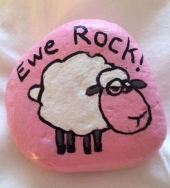 14 Most Adorable Painted Rocks is part of Rock painting ideas easy, Painted rocks, Rock crafts, Rock painting designs, Painted rocks diy, Rock art - These are the absolute most adorable painted rocks! If you love the painted rock trend you are going to love these fun ideas