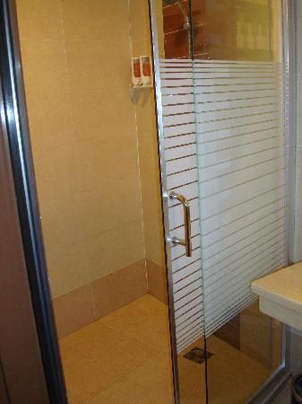 standing shower--gliding door | Vacation Home (a girl can dream ...