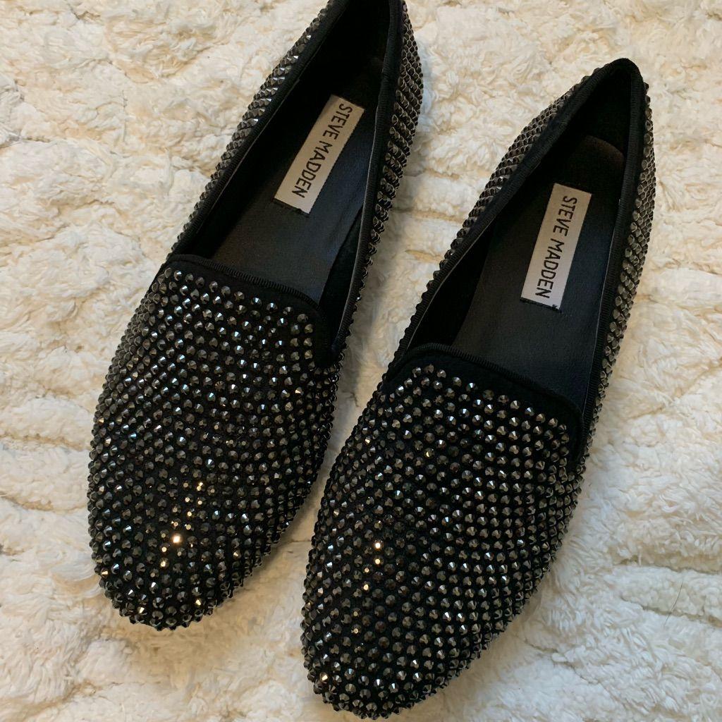 Steve Madden Shoes   Black Sparkle