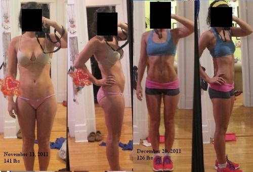 One month insanity results.  Just the motivation I need to start again.