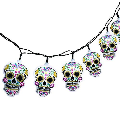 Halloween String Lights with Skull, Icicle 6.7ft 10 LED Battery-Powered String Lights for Indoor/Outdoor, Halloween, Cool Party, Surprising Gift (Cool White) 13.99