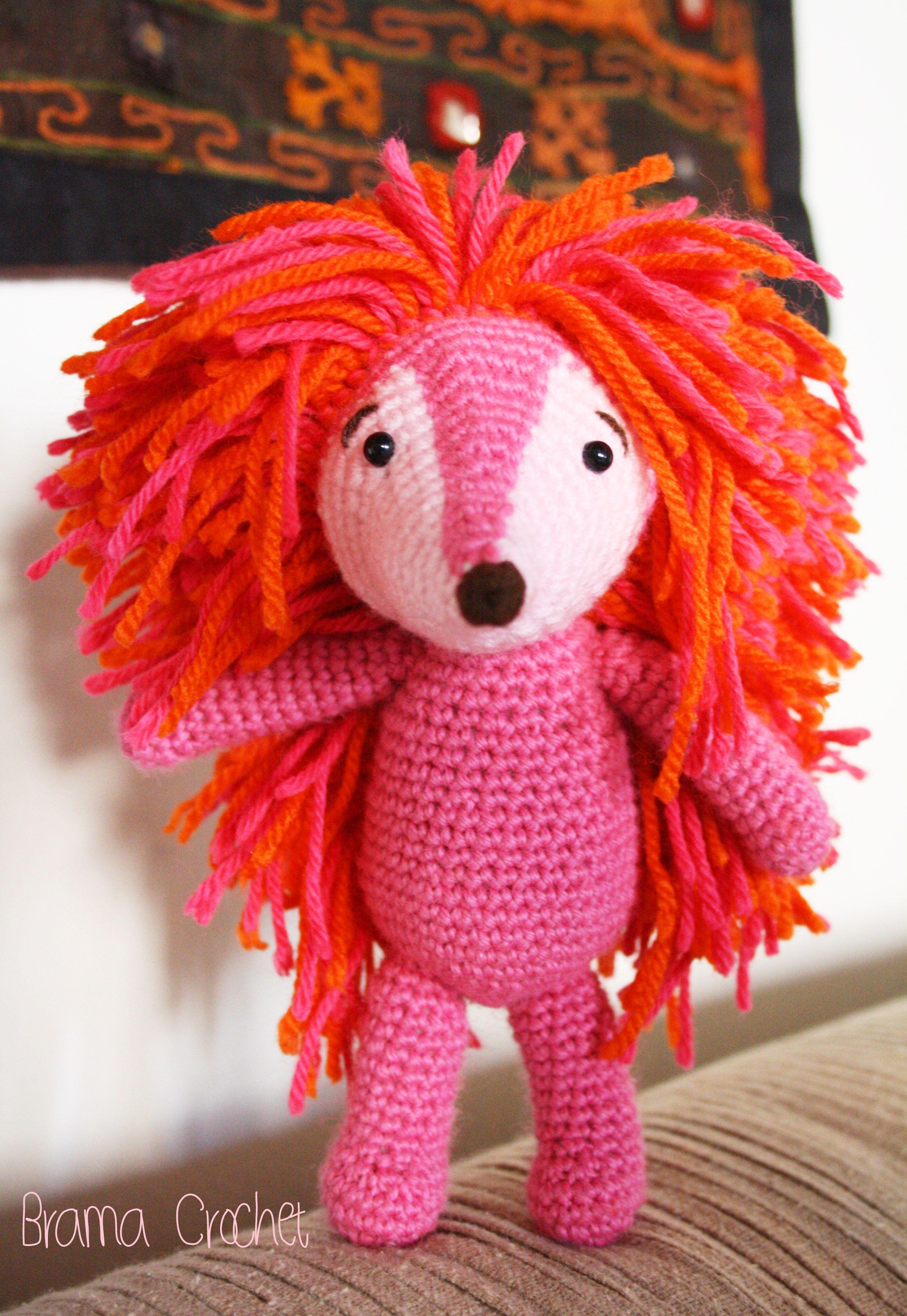 Espinete by Brama Crochet (amigurumi crochet doll espinete Barrio Sésamo)