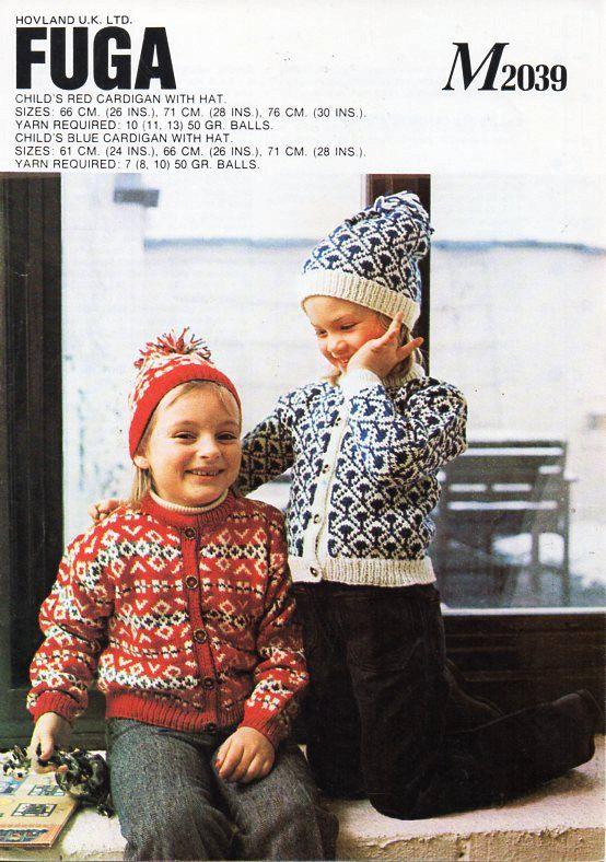 childs / childrens fair isle cardigans . hats . knitting pattern ...