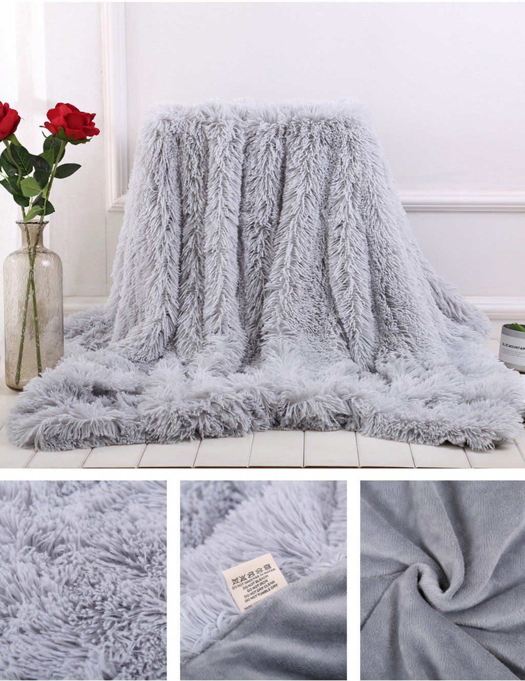 Soffte Cloud Super Soft Long Shaggy Warm Plush Fannel Blanket Throw Qulit Cozy Couch Blanket For Winter Twin Grey63x79 Fin Couch Blanket Blanket Cozy Couch