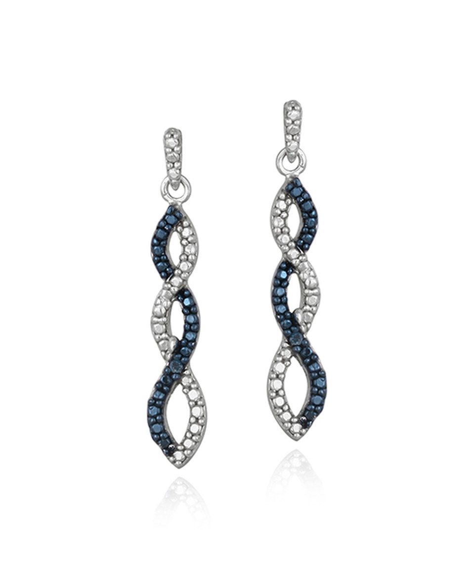 Look at this #zulilyfind! Blue Diamond Infinity Drop Earrings by Designs by FMC #zulilyfinds
