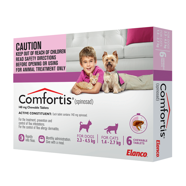 Comfortis 2 3 4 5 For Dogs Puppies 1 4 2 7 For Cats Kittens Dogs Fleas Cat Fleas