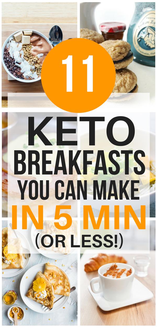 11 Amazing Quick Easy 5 Minute Keto Breakfast Ideas Quick Keto Breakfast Keto Recipes Easy Keto Diet Recipes