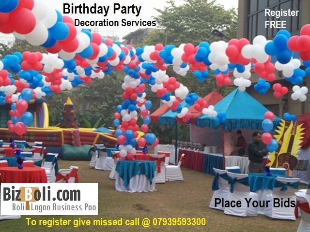 Birthday Party Decoration Services Balloon Decorations Balloons Streamer