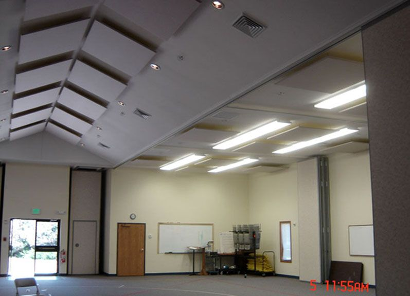 Sound Absorbing Panels For Better Acoustics In Fellowship Halls Sound Proofing Acoustic Panels Diy Acoustical Ceiling