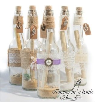 Message In A Bottle Invitations Perfect For Beach Pirate Or Alternative Themed Weddings Special Party Invitation Pinterest