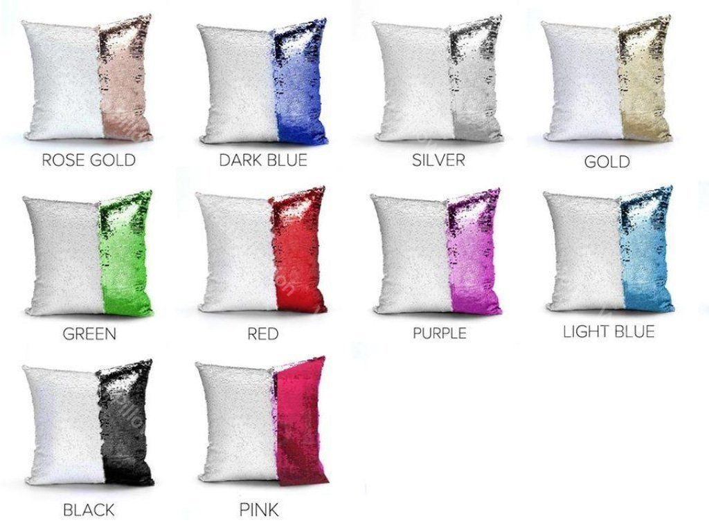 Wolf Sequin Pillow with Personalization - Default Title