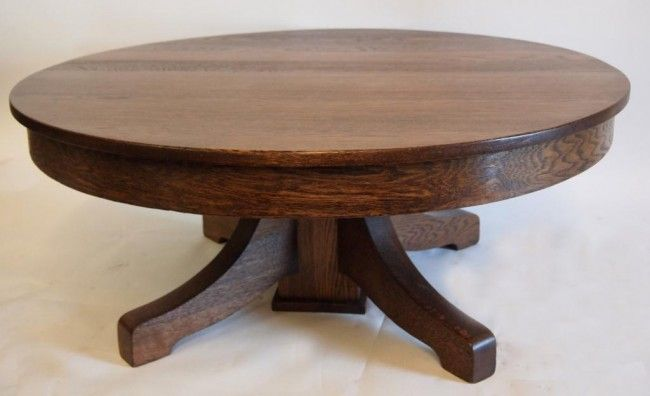 round oak coffee table antique coffee