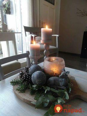 22 čarovných dekorácií na stôl, ktoré nemusíte kupovať: Dôkaz, že v jednoduchosti je krása aj kúzlo sviatkov! #kerstbloemstukken