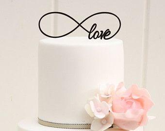 Custom Wedding Cake Topper Infinity Symbol Love