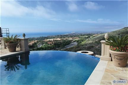 Views From Infinity Pool In Newport Coast Ca Orangecounty