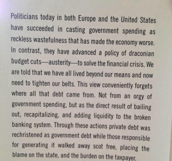 This single paragraph explanation of the financial crisis by Prof Mark Blyth…