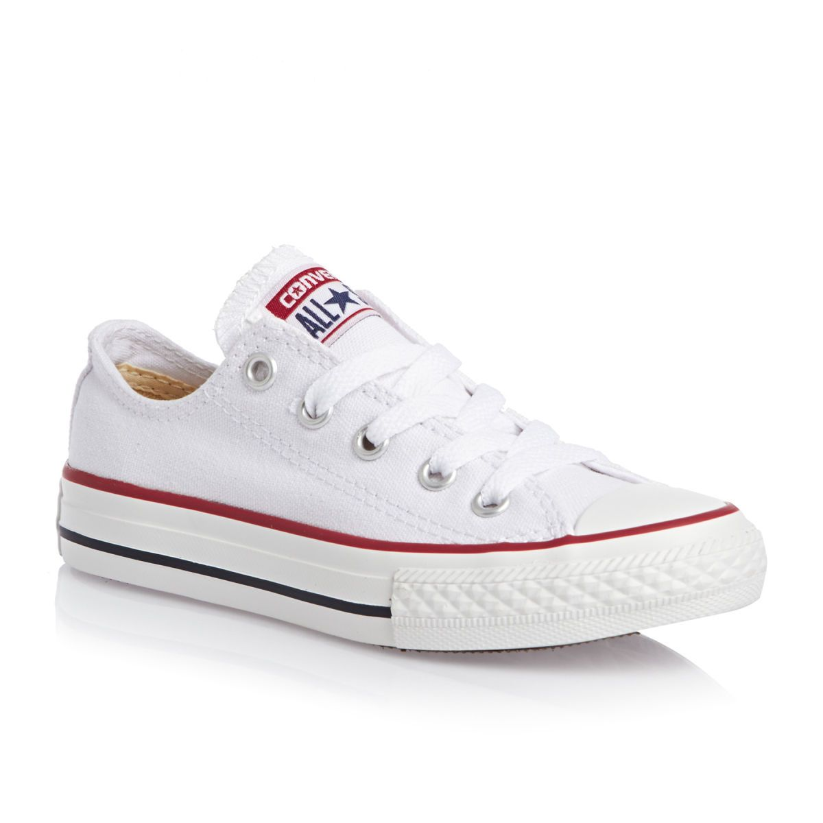 Converse Chuck Taylor All Star Youth Classic Ox Canvas Shoes - Optical White