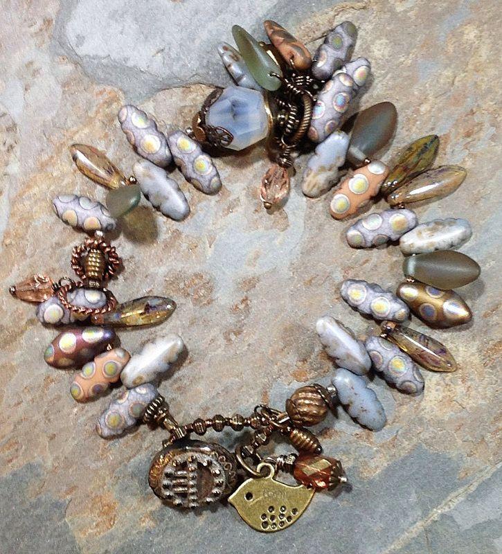 """BeachFog"" DragonFeathers Bracelet by Toni McCarthy"