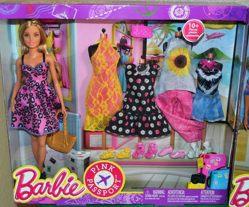 Barbie deluxe furniture stovetop to tabletop kitchen doll target - Barbie Pink Passport Fashion Doll Gift Set New In Box