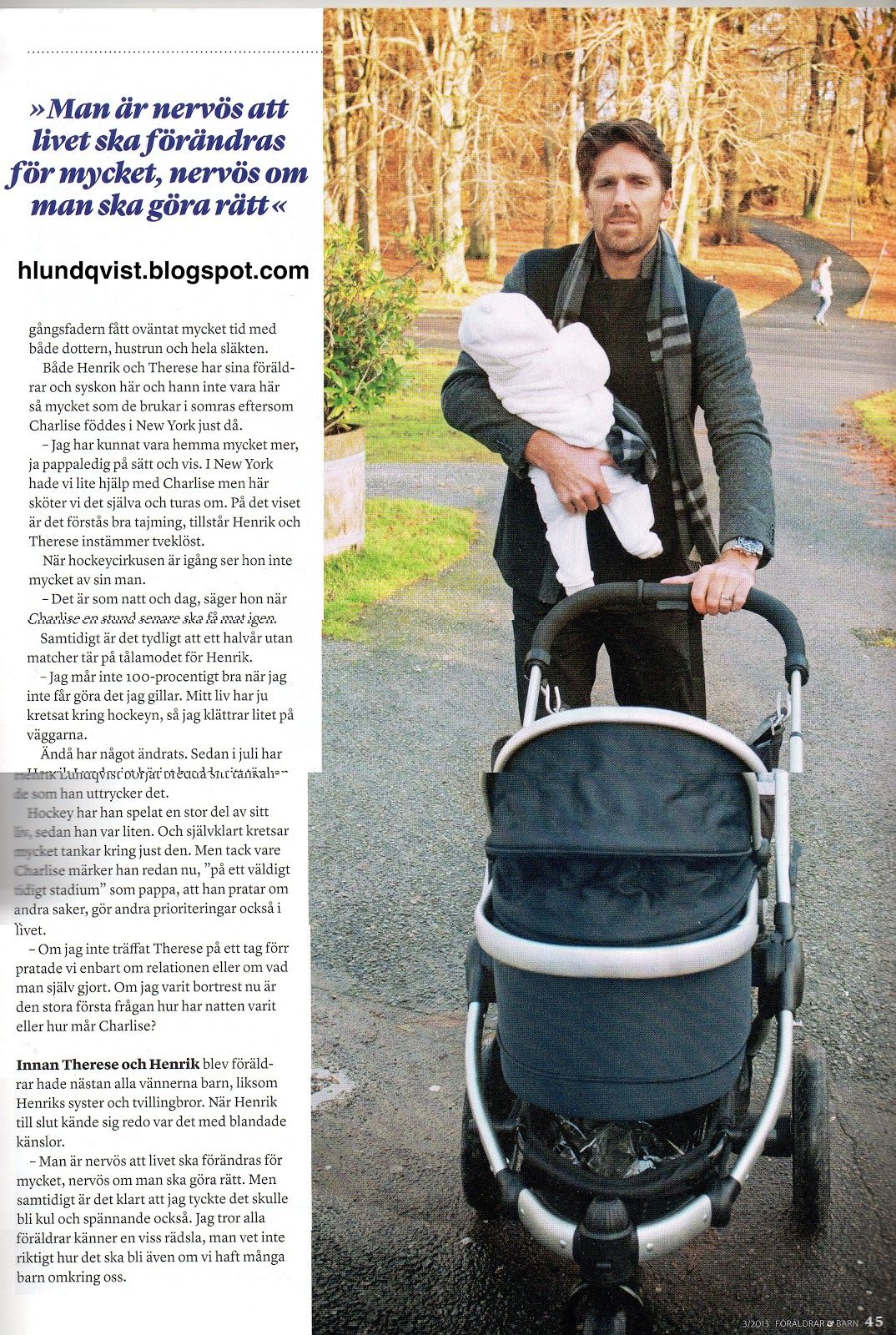 Henrik And Charlise Lundqvist Featured In Swedish Magazine Foraldrar