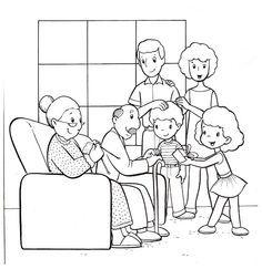 Imagenes Para Colorear De La Familia En Ingles Imagui Con
