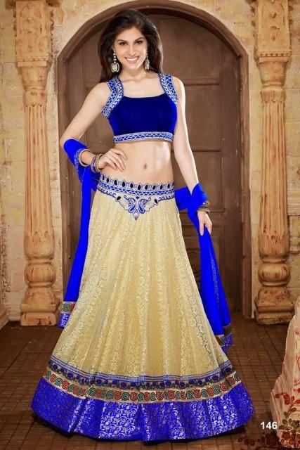 cb9948f1e17 I love this gorgeous royal blue lehenga choli