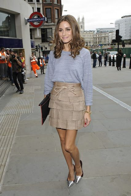 THE OLIVIA PALERMO LOOKBOOK: Olivia Palermo at London Fashion Week : Matthew Williamson Spring/Summer 2013